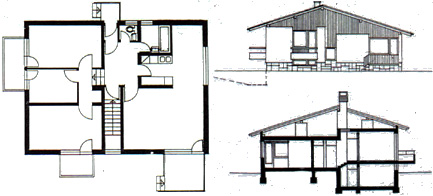 Awesome Plan Section Elevation House Image Contemporary Plan 3D